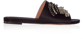 Rochas Thistle-embellished satin sandals