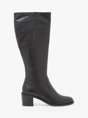 White Stuff Jean Leather Block Heeled Knee Boots