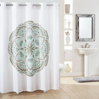 Hookless Medallion Shower Curtain & Liner