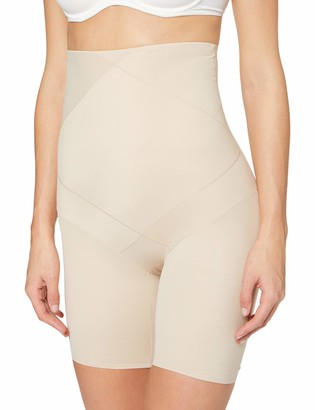 Miraclesuit Women's Panty Gainant Taille Haute Nude-Cross Control X-Firm Thigh Shapewear L