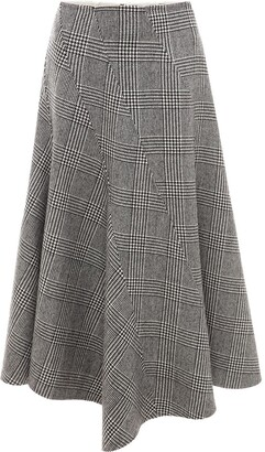 J.W.Anderson Houndstooth Spiral Skirt