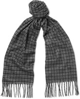 Tom Ford - Fringed Checked Cashmere Scarf