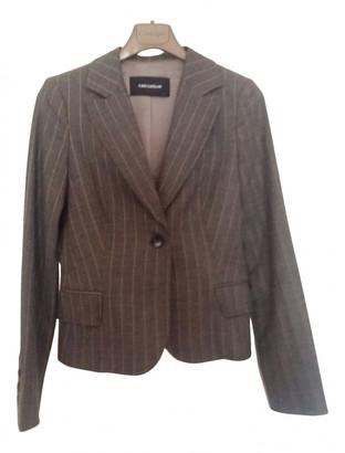 Flavio Castellani Grey Wool Jackets