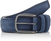 Barneys New York Men's Suede Belt-BLUE