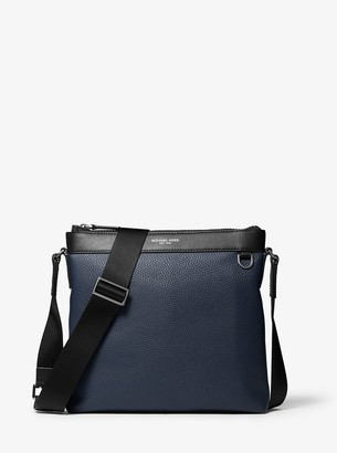 Michael Kors Greyson Pebbled Leather Messenger Bag