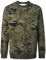 Givenchy Camouflage Print Sweatshirt - Green - Size XL
