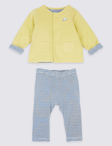 Marks and Spencer 2 Piece Pure Cotton Jacket & Trousers Outfit