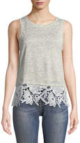Generation Love Mila Lace-Up Sleeveless Linen Top