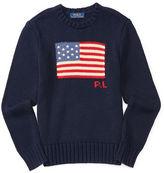 Ralph Lauren Flag Combed Cotton Sweater