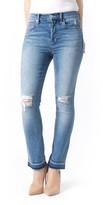 Level 99 Women's Riley High Waist Straight Leg Jeans