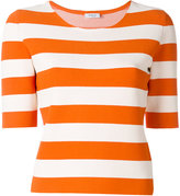 Akris Punto striped T-shirt - women - Polyester/Viscose - 36
