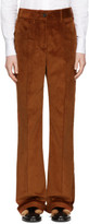 Prada Orange Corduroy Wide-leg Trousers