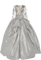Marchesa Long Sleeve Beaded Ball Gown