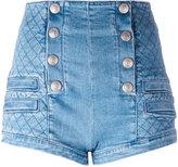 Pierre Balmain quilted effect shorts - women - Cotton/Spandex/Elastane - 28