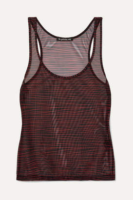 Les Girls Les Boys - Zebra-print Stretch-tulle Camisole - Burgundy