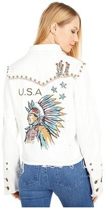 Double D Ranchwear Doodle Dandy Jacket (White) Women's Coat