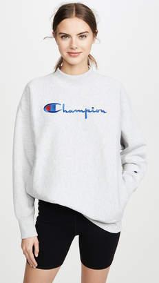 Champion Big Script Oversize Crew Neck Sweatshirt