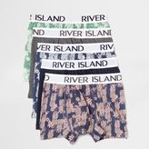 River Island Blue Pineapple Print Trunks Multipack