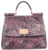 Dolce & Gabbana Ostrich Miss Sicily Bag