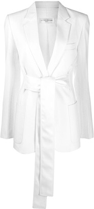 Victoria Beckham Tie-Waist Blazer