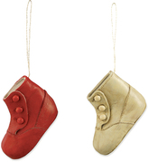 Christmas Morning Shoe Ornament - Set of Two