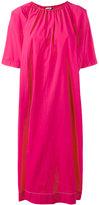 Hache gathered neck shift dress - women - Cotton/Spandex/Elastane - 44
