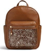 Vera Bradley Downtown Dots Leighton Leather Backpack