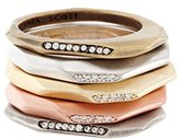 Kendra Scott Joel Set of 5 Stack Rings in Gold, Rhodium, Rose Gold Plated and Cubic Zirconia- Size 7