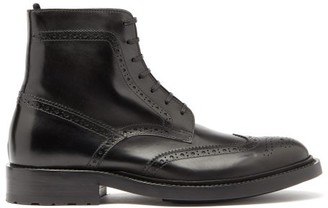 Saint Laurent Army Perforated Leather Combat Boots - Womens - Black