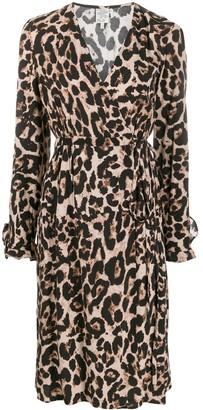 Baum und Pferdgarten Adelota leopard wrap dress