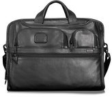 Tumi Men's 'Alpha 2' Softside Leather Laptop Briefcase - Black