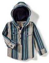 Infant Boy's Peek Miguel Stripe Hooded Shirt