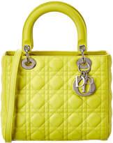 Christian Dior Yellow Leather Medium Lady