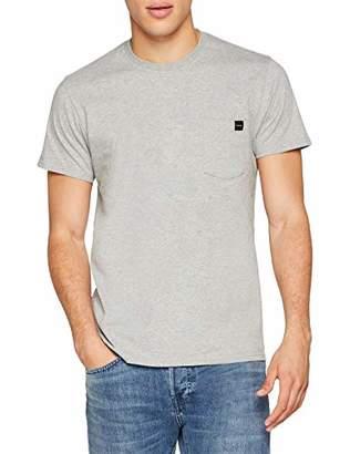 Edwin Men's Pocket TS T-Shirt, (Grey Marl DF67), ((Size:L)