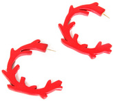 Pretty Little Thing Coral Branch Hoops