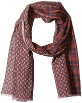 Scotch & Soda Scarf with All-Over Printed Mix & Match Patterns