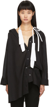 Ann Demeulemeester SSENSE Exclusive White Spread Collar