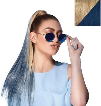Hairdo. by Jessica Simpson & Ken Paves 23 Inch Color Splash Ponytail Gold Wheat - Denim Blue