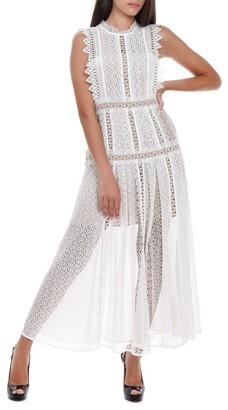 Self-Portrait Lace Panelled Maxi Dress