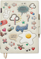 Anya Hindmarch Embossed Leather Notebook Set