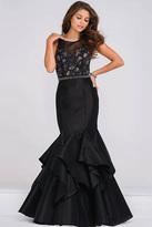 Jovani JVN50200A Sheer Embellished Neckline Mermaid Dress