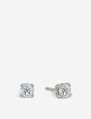 Vashi Diamond solitaire platinum earrings