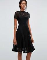 Goldie Romantics Lace Flared Midi Dress