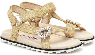 Roger Vivier Trekky Viv raffia sandals