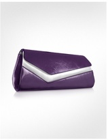 Two-tone Patent Eco-Leather Clutch w/Chain Strap