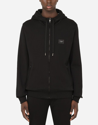 Dolce & Gabbana Cotton Zip-Up Hoodie