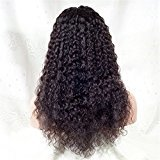 Dream Best Quality Indian Remy Human Hair Glueless Full lace Wigs Curly with Baby Hair For Black Women (20, Natural Black Color)