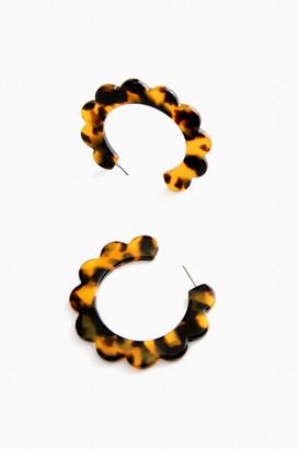 Scallop Hoop Earrings