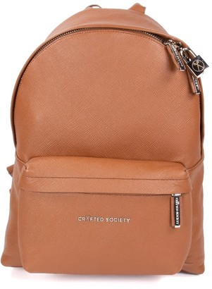 Crafted Society Skye Backpack Small - Camel Saffiano Leather