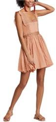 Free People Verona Lace Trim Mini Dress